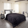 Lavish Home Fleece and Sherpa Blanket - Full/Queen - Smoky Black