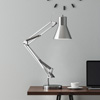 Architect Desk Lamp- LED Task Light with Adjustable Swing Arm for Home and Office- Includes Energy Efficient Light Bulb By Lavish Home (Brushed Steel)