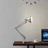 Architect Desk Lamp- LED Task Light with Adjustable Swing Arm for Home and Office- Includes Energy Efficient Light Bulb By Lavish Home (Metal Chrome)