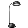 Desk Lamp Adjustable Gooseneck for Reading, Crafts, Writing- Modern Design Light for Bedroom, Home, Office, and Dorm by Lavish Home, Black