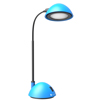 Desk Lamp Adjustable Gooseneck for Reading, Crafts, Writing- Modern Design Light for Bedroom, Home, Office, and Dorm by Lavish Home, Blue