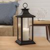 Decorative Candle Lantern with Vintage Style Design-Color Changing Flameless LED Pillar Candle and Remote Control with Timer By Lavish Home