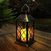 Solar Powered Lantern- Hanging or Tabletop Water Resistant LED Pillar Candle Lamp for Indoors or Outdoors-Classic Home and Garden D�cor by Lavish Home