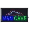 Man Cave LED Sign- Lighted Neon Electric Display Sign With Animation and Energy Efficient LED For Home, Business, Special Events by Lavish Home