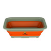 Collapsible Multiuse Wash Bin- Portable Wash Basin/Dish Tub/Ice Bucket with 10 L Capacity for Camping, Tailgating, More by Wakeman Outdoors (Orange)