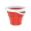 Multiuse Collapsible Bucket- Portable Water/Ice Bucket, Wash Basin, Storage for Camping, Fishing, Tailgating, More by Wakeman Outdoors (Red)