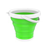 Multiuse Collapsible Bucket- Portable Water/Ice Bucket, Wash Basin, Storage for Camping, Fishing, Tailgating, More by Wakeman Outdoors (Green)