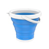 Multiuse Collapsible Bucket- Portable Water/Ice Bucket, Wash Basin, Storage for Camping, Fishing, Tailgating, More by Wakeman Outdoors (Blue)