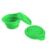 Collapsible Bowls with Lids- BPA Free Silicone, Reusable Hot or Cold Food Bowl for Camping, Travel, Hiking, More by Wakeman Outdoors (2 Pack, Green)