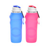 Collapsible Water Bottles-20oz, Foldable, Reusable, Leak-Proof-Compact for Hiking, Camping, Backpacking, Running and More by Wakeman Outdoors (2 Pack)