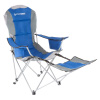 Camp Chair with Footrest-300lb. Capacity Recliner Quad Seat with Cup Holder, Cooler, Carry Bag-Tailgating, Camping, Fishing by Wakeman Outdoors (Blue)