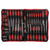 Screwdriver Set ? 100 Piece Metric and SAE Magnetic Chrome Vanadium Steel Hand Tool and Accessories Bag with Carry Bag and Ratchet Handle by Stalwart