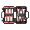 58 Piece Screwdriver Bit Set ? Magnetic Metric and SAE Measurement Precision Driving Kit with Handle and Carrying Case by Stalwart