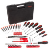 Screwdriver Set ? 70 Piece SAE and Metric Heat Treated Hand Tool Kit with Carrying Case and Magnetized Tips for Home, Garage or Workshop by Stalwart