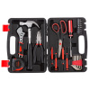 Tool Kit - 28 Heat-Treated Pieces with Carrying Case - Essential Steel Hand Tool and Basic Repair Set for Apartments, Dorm, Homeowners by Stalwart