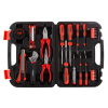 32 Piece Tool Kit with Carrying Case-Heat Treated Steel Essential Basic Repair Handtool Set for DIY, Apartments, Dorms, and Homeowners by Stalwart