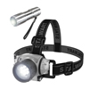 LED Headlamp, Adjustable Headband and Flashlight Set, Battery Operated 48 Lumen LED Bulbs, for Camping, Running, Hiking, and Emergency by Stalwart