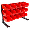 15 Bin Storage Rack Organizer- Durable Carbon Steel with Stackable Plastic Drawers for Tools, Hardware, Crafts, Office Supplies, More by Stalwart