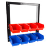 8 Bin Storage Rack Organizer- Wall Mountable Container with Removeable Drawers for Tools, Hardware, Crafts, Office Supplies and More by Stalwart
