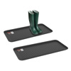 All Weather Boot Tray - Large Water Resistant Plastic Utility Shoe Mat for Indoor and Outdoor Use in All Seasons by Stalwart (Set of Two, Black)