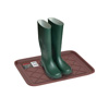 All Weather Boot Tray - Small Water Resistant Plastic Utility Shoe Mat for Indoor and Outdoor Use in All Seasons by Stalwart (Brown)