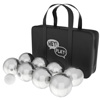 Petanque / Boules Set For Bocce and More with 8 Steel Tossing Balls, Cochonnet, and Carrying Case- Outdoor Game For Adults and Kids by Hey! Play!