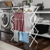 Clothes Drying Rack ? 3 Tiered Expandable Free Standing Laundry Sorter with Rust Resistant Metal Frame for Folding and Hanging Garments by Lavish Home