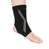 Copper Infused Ankle Support Compression Sleeve- Unisex Ankle Compress for Pain Relief, Soreness, Swelling, Recovery by Bluestone (Large)