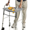 Walker Tray- Upright with 2 Cup Holders-Universal Table Fits Most Standard Folding Walkers-Home Mobility Medical Equipment Accessories by Bluestone