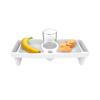 Lap Tray with Cupholder, Side Compartments-For Eating, Drinking, Snacking on Bed, Couch, Chair- Serve Breakfast, Lunch, Dinner Anywhere by Bluestone