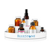 Lazy Susan Pill Holder-360 Revolving Turntable Medication Storage Organizer Caddy-5 Compartments for Pills, Vitamins, or Supplements by Bluestone