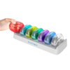 Weekly Pill Organizer 7 Day Storage with AM/PM Daily Containers for Medication, Vitamins-Colorful, Compact, Portable, with Snap Shut Lids by Bluestone