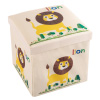 Cushion Top Collapsible Toy Box and Ottoman - Folding Bin Playroom, Bedroom or Nursery Organizer Container for Dress Up, Stuffed Animals by Hey! Play!