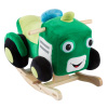 Tractor Rocker Toy-Kids Ride On Soft Fabric Covered Wooden Rocking Plush-Neutral Design for Any Nursery-Fun for Toddler Boys and Girls by Happy Trails