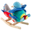 Rocking Plane Toy- Kids Plush Stuffed Ride On Wooden Rockers with Sounds and Handles-Make Believe Play- Fun for Boys, Girls, Toddlers by Happy Trails