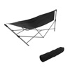 Portable Hammock with Stand-Folds and Fits into Included Carry Bag for Easy Travel-Perfect for Backyard, Pool, Beach, Hiking by Pure Garden -Black