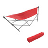 Portable Hammock with Stand-Folds and Fits into Included Carry Bag for Easy Travel-Perfect for Backyard, Pool, Beach, Hiking by Pure Garden -Red