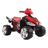 Ride On Toy Quad, Battery Powered Ride On Toy ATV Four Wheeler With Sound Effects by Lil? Rider ? Toys for Boys and Girls, 2 - 5 Year Olds (Black/Red)