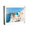Acrylic Picture Frame 8x10?- Clear Freestanding Block Frame with Double Sided Photo, Art, Certificate Display and Magnetic Closure by Lavish Home