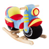 Rocking Motorcycle Toy - Kids Plush Stuffed Ride On Wooden Rocker and Handles - Fun for Boys, Girls, Toddlers by Happy Trails