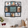 Family Rules Collage Picture Frame with 8 Openings for Six 4x6 and Two 4x4 Photos- Wall Hanging Display for Personalized Decor by Lavish Home (Black)