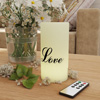 LED Candle with Remote Control- Love Vanilla Scented Wax, Realistic Flickering or Steady Flameless Pillar Light-Ambient Home D�cor by Lavish Home