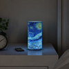 LED Starry Night Candle with Remote Control Timer-Van Gogh Art on Vanilla Scented Realistic Flickering or Steady Flameless Light-D�cor by Lavish Home
