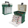 Storage and Tool Box-Durable Organizer Utility Box-4 Drawers, 19 Compartments Each for Camping Supplies and Fishing Tackle by Wakeman Outdoors (Green)