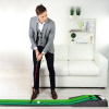 Putting Green with Gravity Fed Golf Ball Return-Indoor Outdoor Portable Practice Mat for Home, Office, Beginners or Experienced Golfers by Hey! Play!