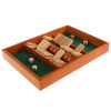 Shut The Box Game-Classic 9 Number Wooden Set with Dice Included-Old Fashioned, 2 Player Thinking Strategy Game for Adults and Children by Hey! Play!