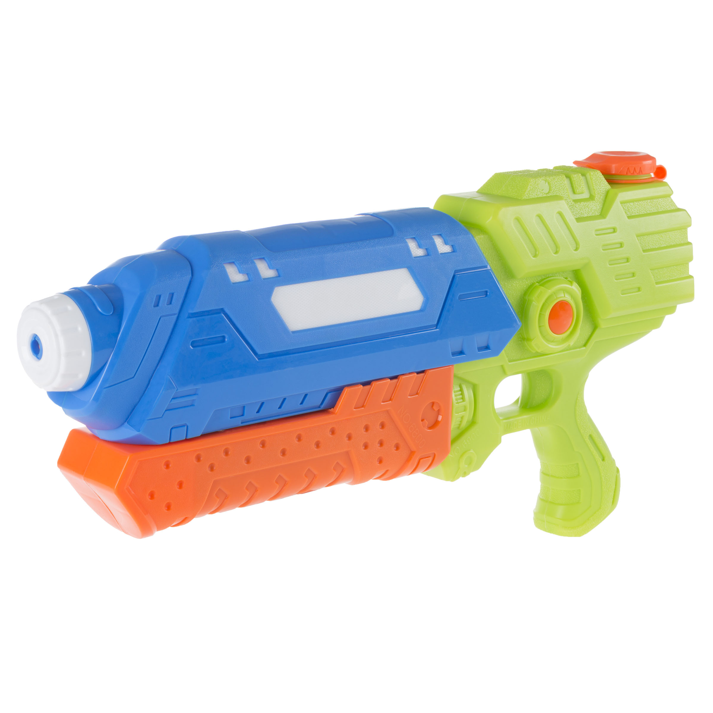 Water Gun Soaker with Air Pressure Pump- Lightweight Squirt Gun Toy for Beach, Pool and Outdoor Games for Kids and Adults by Hey! Play! (Blue/Orange)