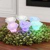 LED Rose Shaped Color Changing Lights- 6 Piece Set Flower Design Flameless Lighting Accents for Home D�cor, Night Light, Decorations by Lavish Home
