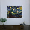 Lighted Wall Art Canvas With Timer- Van Gogh Starry Night Printed Decor with LED And Color-Changing Lights for Home and Office, 12x16 by Lavish Home