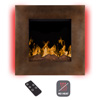 Electric LED Fireplace- Wall Mounted with 13 Backlight Colors, 10 Flame Colors, Timer and Remote Control NO HEAT- 24 inch by Northwest (Dark Bronze)